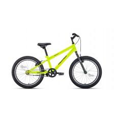 "Велосипед 20"""" ALTAIR MTB HT 1.0 рост 10,5"""", 1ск., ярко-зелёный/серый"