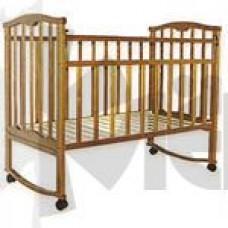 Кроватка детская Золушка-1 кол.+кач., орех 52101