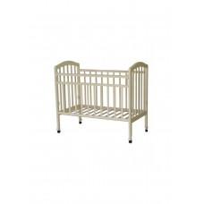 Кроватка детская Кр 1-01м колёса, откидная планка, белый
