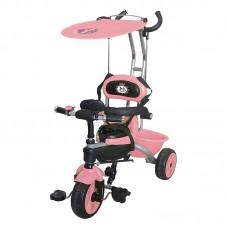 Велосипед 3-х кол. Jack&Lin крыша-тент, родит.вело-ручка JL-BCL091801 розовый