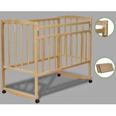 Кроватка детская Кр 1-02м кол.+кач., опускн.планка, берёза