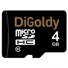 Карта памяти micro SD 4Gb DiGoldy Class 10 без адаптера