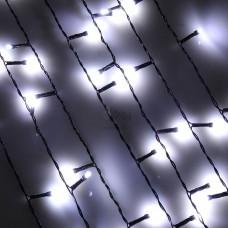 Гирлянда эл. Бахрома Сноу Бум 96LED 3*0,7м. белый пост.свеч. ПВХ провод 382-016