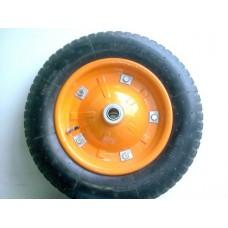 Колесо д/тележки 3.00-8 воздушное 16мм оранж