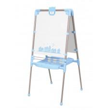 Мольберт напольный двухсторонний арт. М2Р/1 голубой с бежевым
