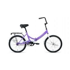 "Велосипед 20"""" ALTAIR City складная рама, рост 14"""", фиолетовый/серый"