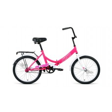 "Велосипед 20"""" ALTAIR City складная рама, рост 14"""", розовый/белый"
