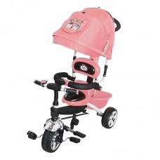 Велосипед 3-х кол. Jack&Lin крыша-капюшон, родит.вело-ручка JL-BCL091802 розовый