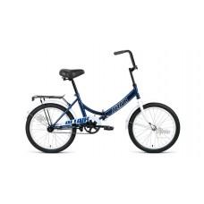 """Велосипед 20"""""""" ALTAIR City складная рама, рост 14"""""""", тёмно-синий/белый"""