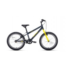 "Велосипед 20"""" ALTAIR MTB HT 1.0 рост 10,5"""", 1ск., серый/жёлтый"