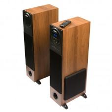 Активная акустическая стереосистема ДИАЛОГ Progressive AP-2300 Brown 2.0 Bluetooth USB+SD