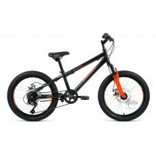 """Велосипед 20"""""""" ALTAIR MTB HT 2.0 disc рост 10,5"""""""", 6 ск., чёрный/оранжевый"""