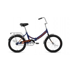 "Велосипед 20"""" FORWARD Arsenal 1.0 складная рама, рост 14"""", тёмно-синий/оранжевый"