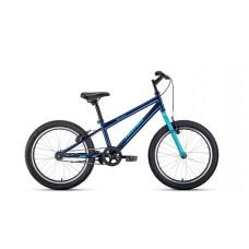 """Велосипед 20"""""""" ALTAIR MTB HT 1.0 рост 10,5"""""""", 1ск., тёмно-синий/бирюзовый"""