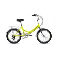 """Велосипед 20"""""""" FORWARD Arsenal 2.0 складная рама, рост 14"""""""", 6ск., ярко-зелёный/серый"""