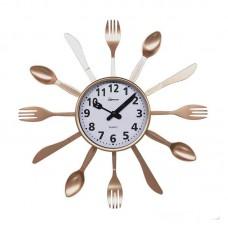 """Часы настен. HOMESTAR HC-14 """"""""Ложки,вилки"""""""" 5661"""