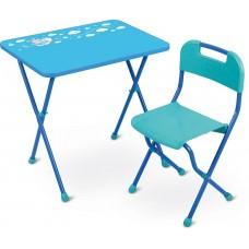 Стол+Стул КА2/Г Алина голубой