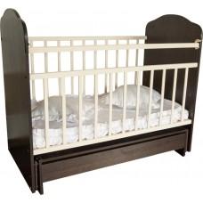 Кроватка детская Золушка-10 поперечн.маятник, шоколад/слон.кость 52107