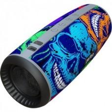 Колонка- труба портативная Perfeo Bluetooth SKULLS FM USB AUX 12Вт 2600mAh граффити черепа 4978