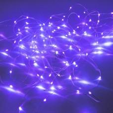 Гирлянда эл. НИТЬ 10м. 100LED фиолетовый серебр.шнур SE-STRING-10100P