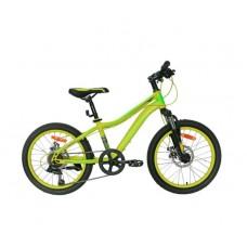 """Велосипед 20"""""""" NAMELESS S2200D рост 12"""""""", 7ск., диск., зелёный/синий"""