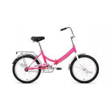 """Велосипед 20"""""""" FORWARD Arsenal 1.0 складная рама, рост 14"""""""", розовый/серый"""