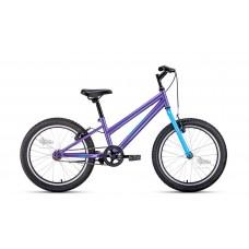 """Велосипед 20"""""""" ALTAIR MTB HT low женск.рама, рост 10,5"""""""", 1ск. фиолетовый/голубой"""