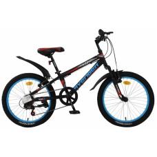 """Велосипед 20"""""""" AVENGER С200 рост 10"""""""", 7ск., чёрный/красный"""