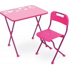 Стол+Стул КА2/Р Алина розовый