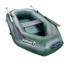 Лодка Корсар Т220 гребная (зеленая)