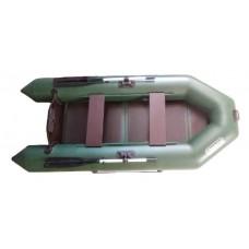 Лодка Грифон 280 моторная (зелёная)+слань-книжка