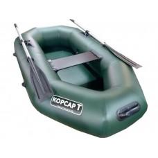 Лодка Корсар Т220 гребная (зелёная)