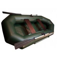 Лодка Корсар Т240 гребная (зелёная)
